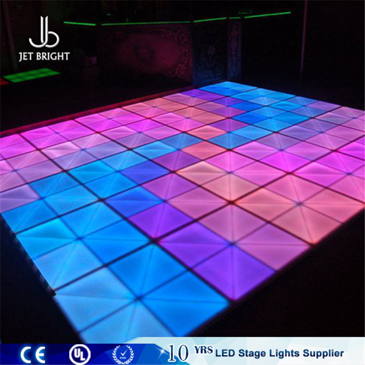 waterproof DMX magic stage led make dance floor/led video dance floor tiles for disco