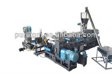 Crushed PP PE flakes recycling pelletizer