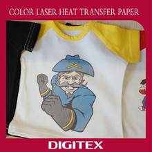 Customized color laser transfer paper for jacket appliques