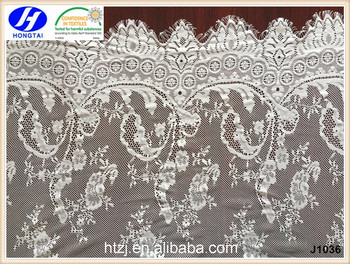 2016 fuzhou High quality nylon eyelash cord lace fabric for dress