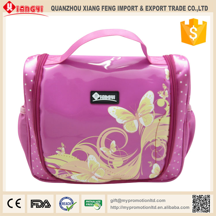 Hot selling supermarket portable nylon makeup bags and cases for ladies in Germany