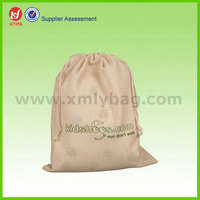 Nature Cotton Fabric Drawstring Sports Shoe Bag Making Machine