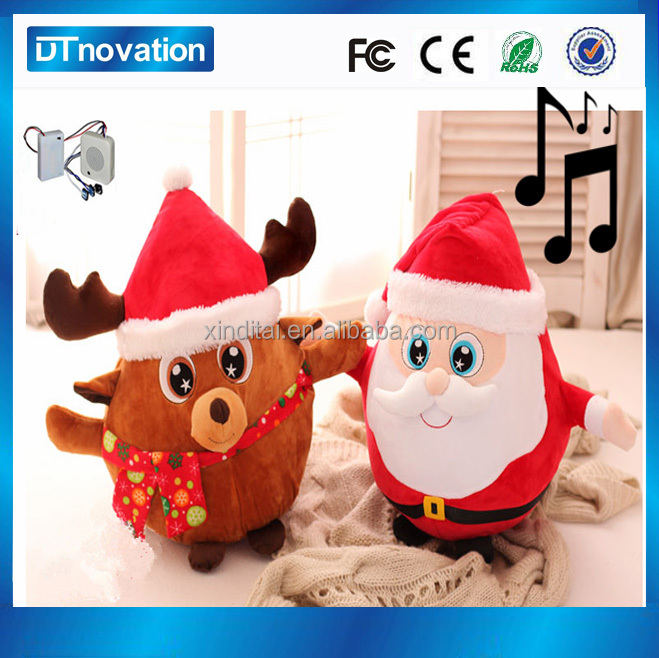 Animated plush musical battery operated action musical christmas toy