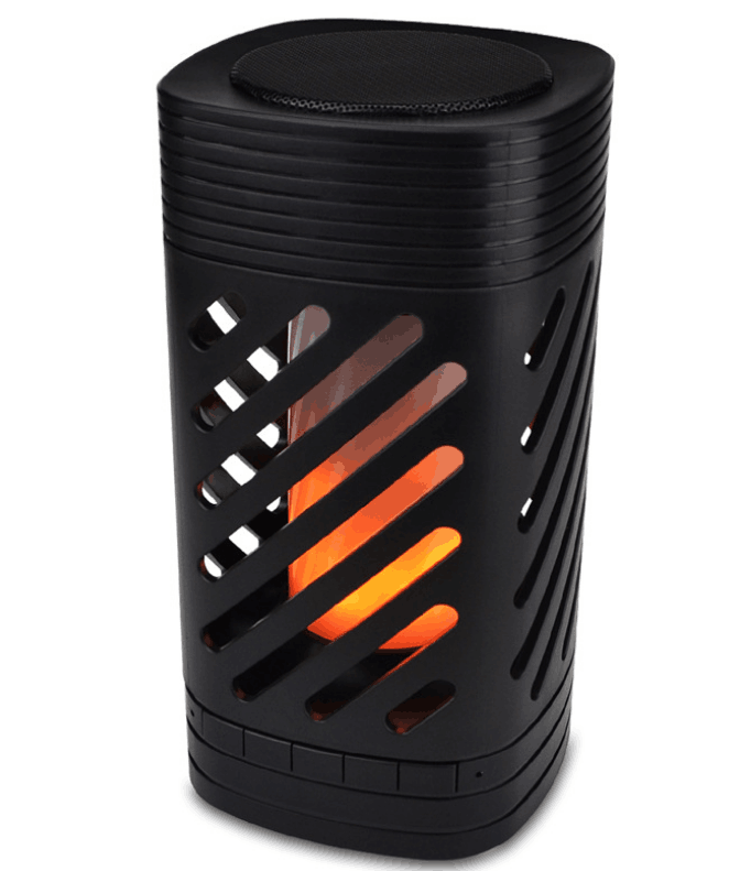 Classical bluetooth portable logo Touch Atmosphere wireless flame led light speaker