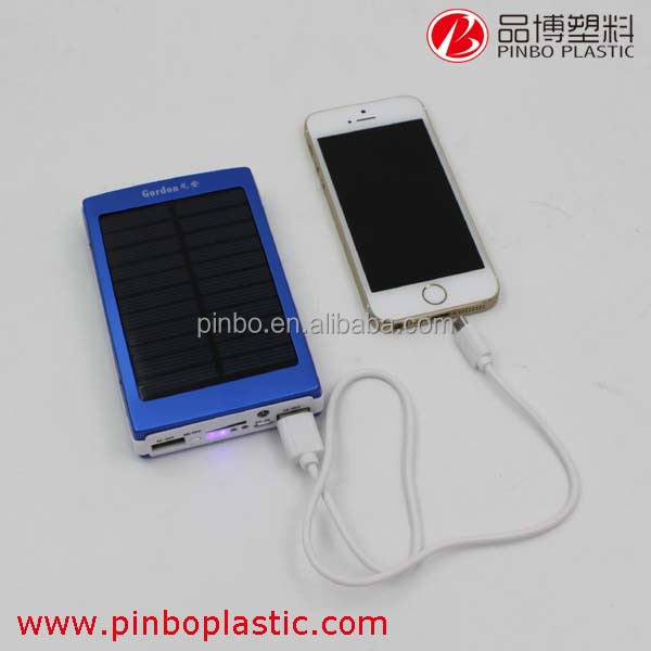 Portable mobile phone charger with Dual Output Available, Hot Selling solar power mobile charger, high capacity power bank