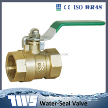 BSP Thread Brass Ball Valve lockable with carbon steel Handle