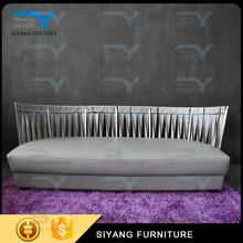 stainless steel sets sofa/chairs with PU/real leather