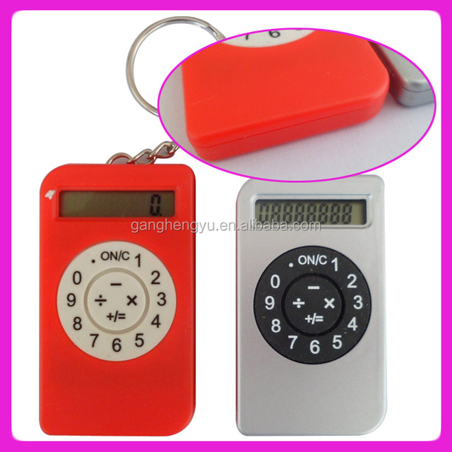 Modern lovely Key chain calculator promotion gift