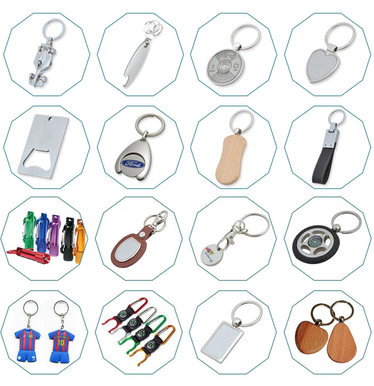 2017 Newest Creative Gifts Custom Smart leather keychain