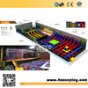 Cheap High Quality Large sized Colorful Commercial Trampoline Park with Basketabll Hook and Foam Pit for Sales