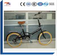 6speed cheap price 20 inch folding bicycle/ color tire fold up bikes for sale
