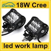 18w Durable moun stainless steel bracket spot flood light led truck work lights