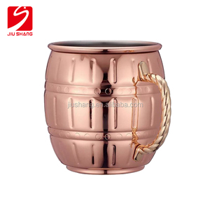 Plated Drinking beer Coffee Moscow Mule Mug 100% Copper