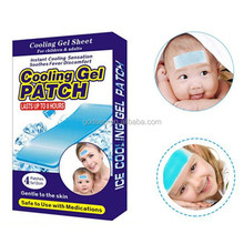 2014 CE certificate Cooling patch for fever,headache,toothache,sprain,bruises,refresh,fever reducing cool patch