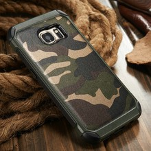 2016 Camo 2 in 1 Leather Case for Samsung S7 S6, for Galaxy S7 edge S6 edge Cover, Cell Phone Hard Case for Samsung S7