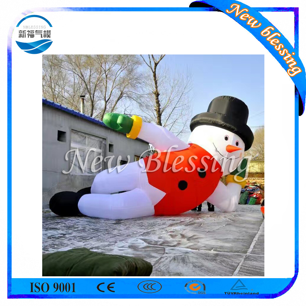 Inflatable Outdoor Christmas Decoration, Santa Inflatable Snowman