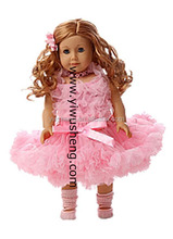 "Lovely New Doll Clothes fits 18"" American Girl Fashionable Doll pettiskirt set # Pink"