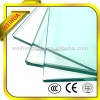 weihua factory glass price of glass louver double glazing glass wall panel