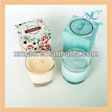Natural soy moisturizing candles brands in handmade box