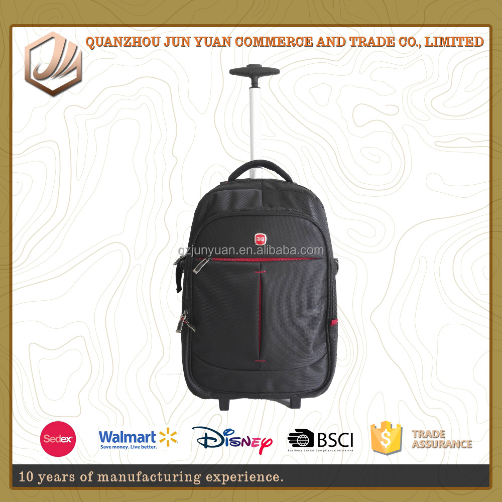 High quality travel trolley backpack for men