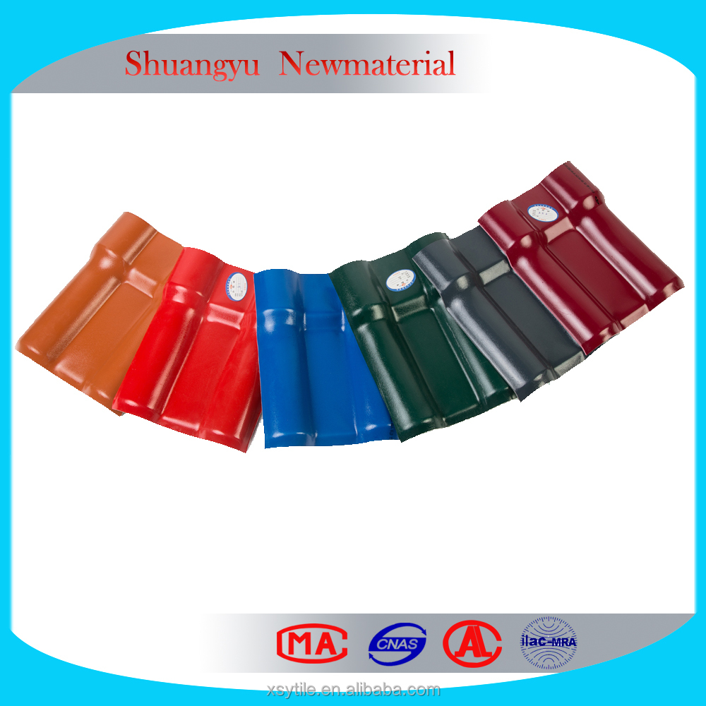 Transparent one layer UPVC / PVC plastic Roof Tile for Sale