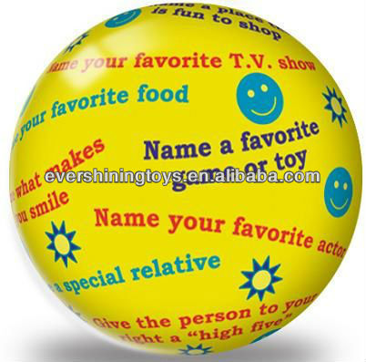 Newest 9 inch full color bouncing pvc ball