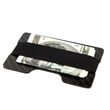 Hot sale New slim carbon fiber card holder money clip metal wallet