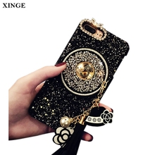 Bling Bling Black Color Diy Mobile Phone Cover Case For Girls For Iphone 7 8 Plus
