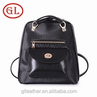 New women shoulder bags backpack shoulder bag two in one waterproof hiking backpacks black