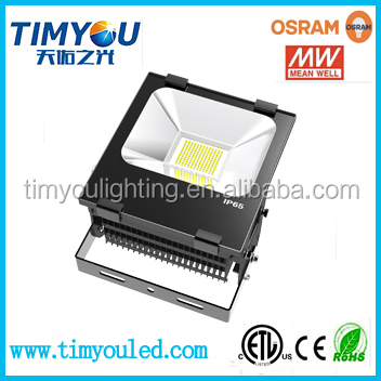 china alibaba best seller surface mounted 50w 70w 100w 150w 200w outdoor 110 volt led flood light fixture meanwell smd