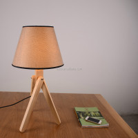 Finland design classic style modern writing table lamp with flax shade