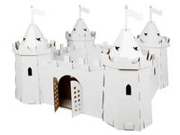 Cardboard royal castle for assembling, painting and decorating