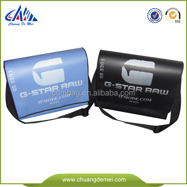 promotional logo customized men messenger bag