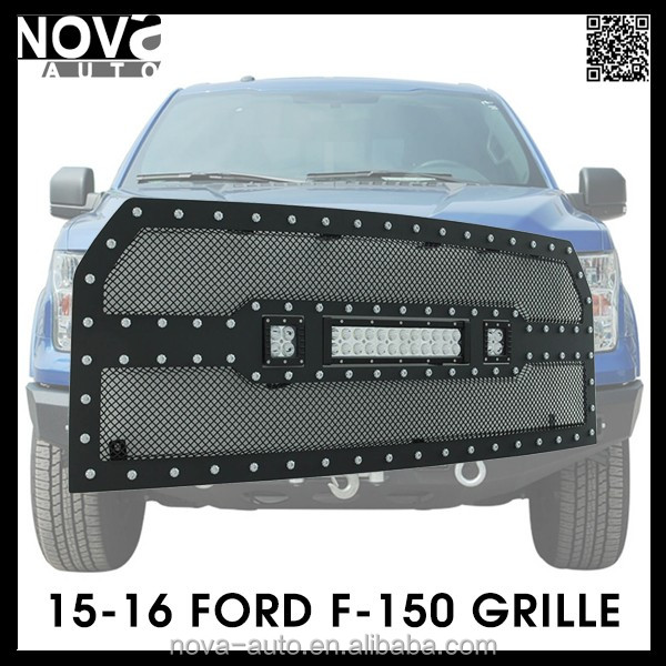 Black Steel Wire Mesh Front Grille For Pickup Chevy Toyota Ford GMC Dodge
