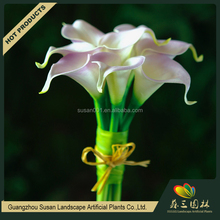 Real touch PU artificial calla lily bulbs flower bouquet for sale