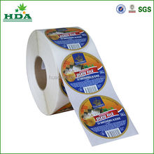 custom logo printed roll adhesive sticker/label