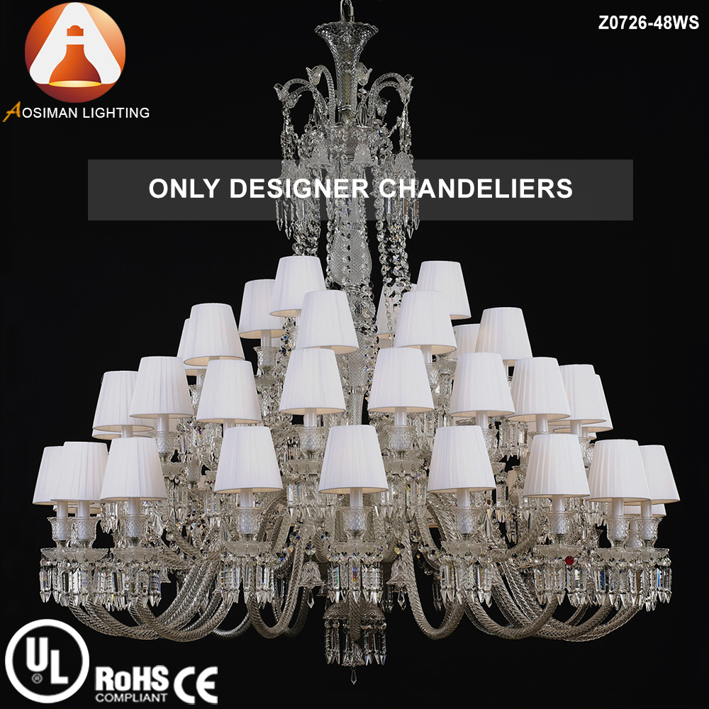 Baccarat Style 48 Light Interior Decoration Glass Crystal Chandelier
