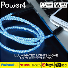 Most Durable EL light glowing MFi Cable / Charger Cord Perfect for iPhone 6s 6 Plus, MFi factory