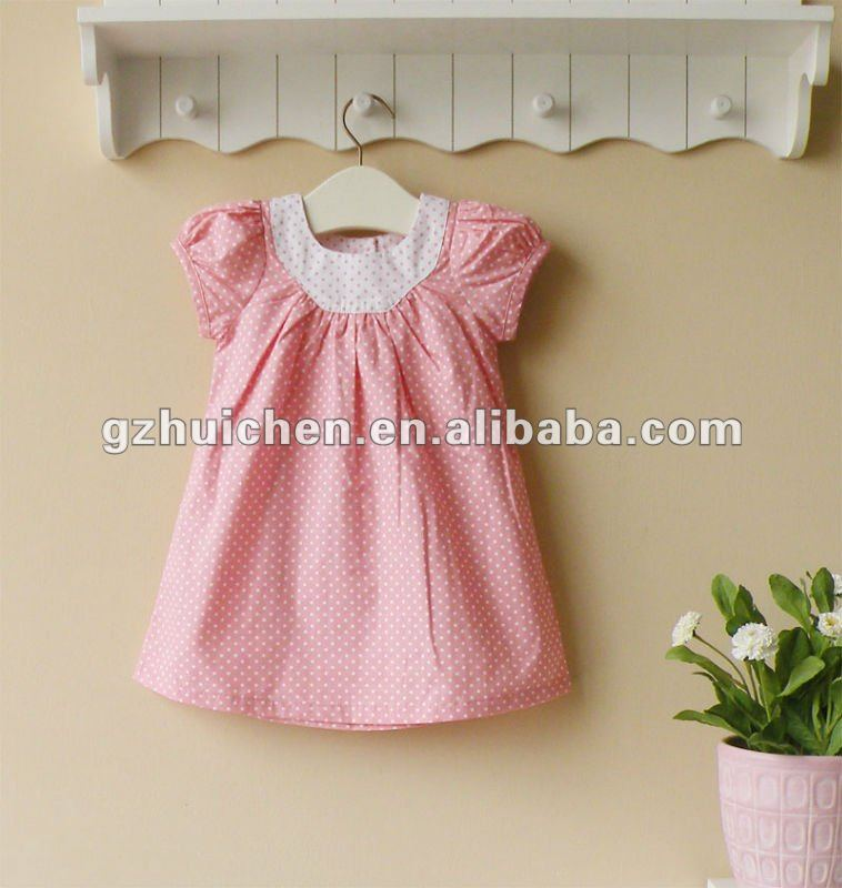 mom and bab 2012 New summer baby 100% cotton girls dress