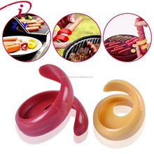Fancy Sausage Hot Dog Spiral Cutter Slicer Manual BBQ Tools Kitchen Gadget for Barbecue Yellow and Red Set of 2