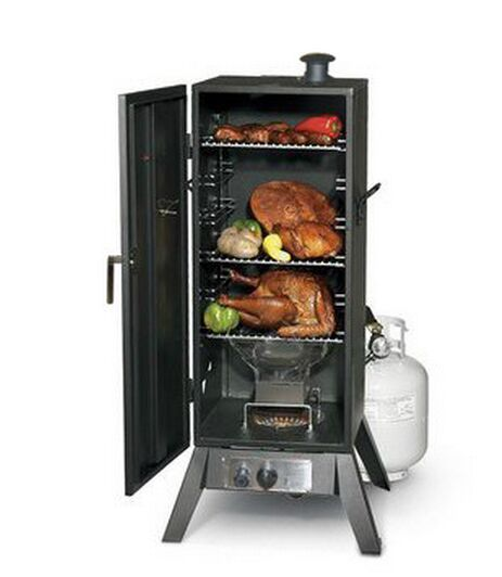 BBQ Grill Vertical Gas Smokers Meat and Fish Smoker for Outdoor Cooking