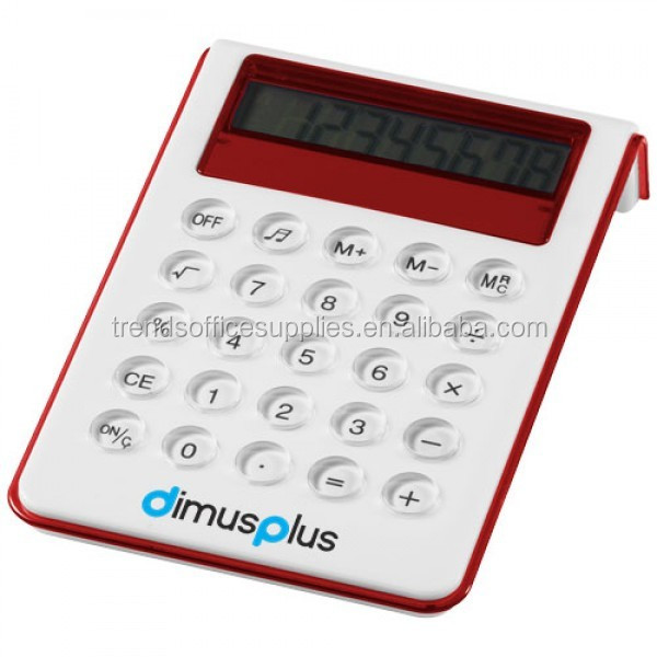 slimline marketing lcd display Soundz Desk Calculator without raised buttons