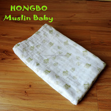 100% cotton printed muslin baby wholesale throw blanket