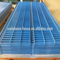Curved Wire mesh fence blue color
