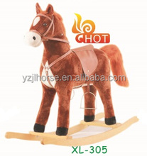 Hot Sale Plush Rocking Horse with Releastic Sound Direct from Factory