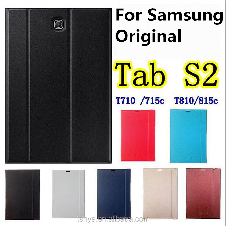 Original Smart Book Cover Flip Stand Leather Case For Samsung Galaxy Tab S2 8.0 T710 T715 Tablet Bag Auto Sleep Wake Up