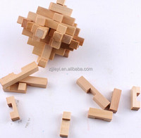 wood iq puzzle toy diy 3d puzzles for children