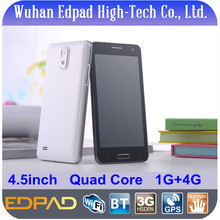 Hot sell 4.5inch MTK6582 quad core 3g gsm dual sim mobile phone