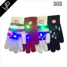 Hot selling Custom Christmas Gift Led Glove Jacquard ChristmasTree knitted Winter glove