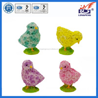 "4"" Decorative Chick Figurines Resin Farm Animal,Yellow Chick Spring Easter Figurines"